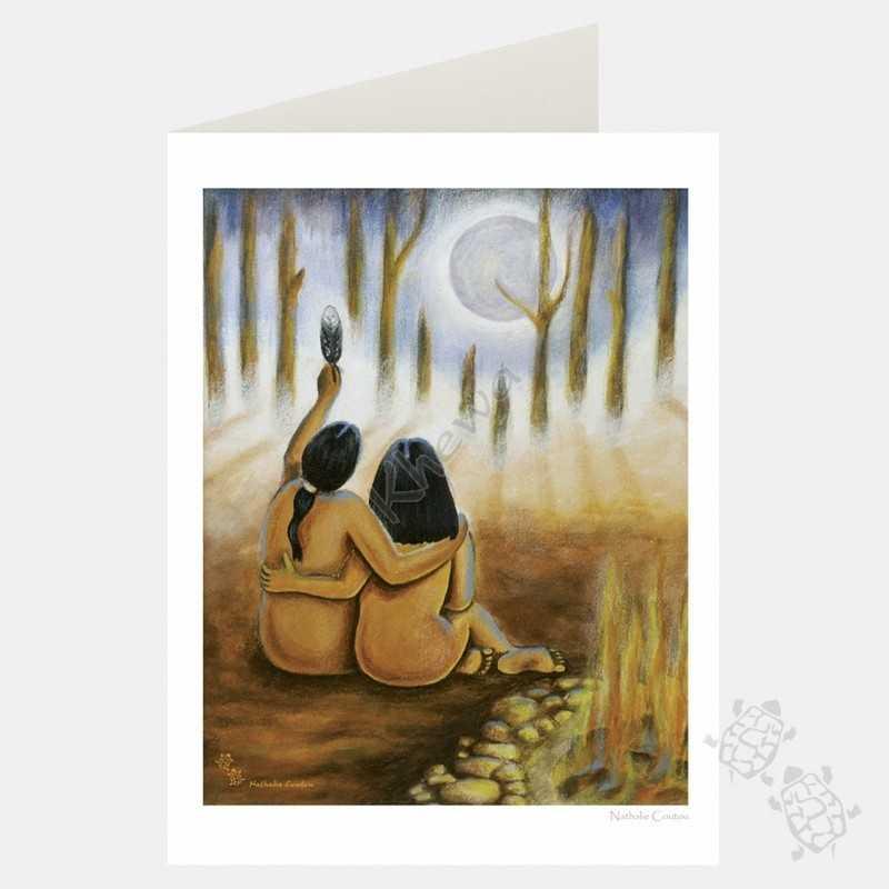 Card - Eagle Moon