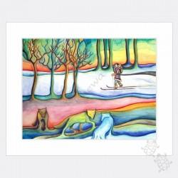 Petite repro - Loups d'hiver