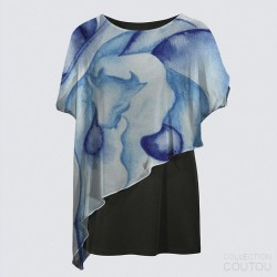 Yoko Cape Tunic Water & Spirit Buffalo