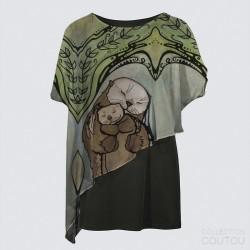 Yoko Cape Tunic «M'Otter Love»
