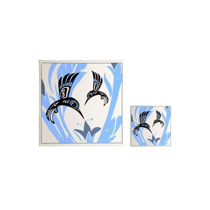 Bill Helin Hummingbird Trivet or Coasters