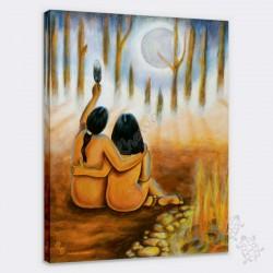 Canvas - Eagle Moon