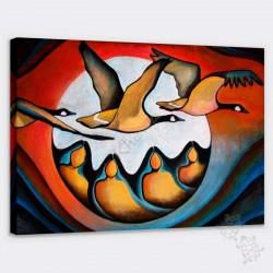 Canvas - Geese spirit