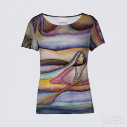 K Smith T-shirt Soirée Glissant vers l'Automne