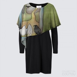 "Joni Dress ""Forest Temple"""