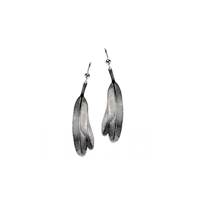 Bill Helin Eagle Feather Earrings