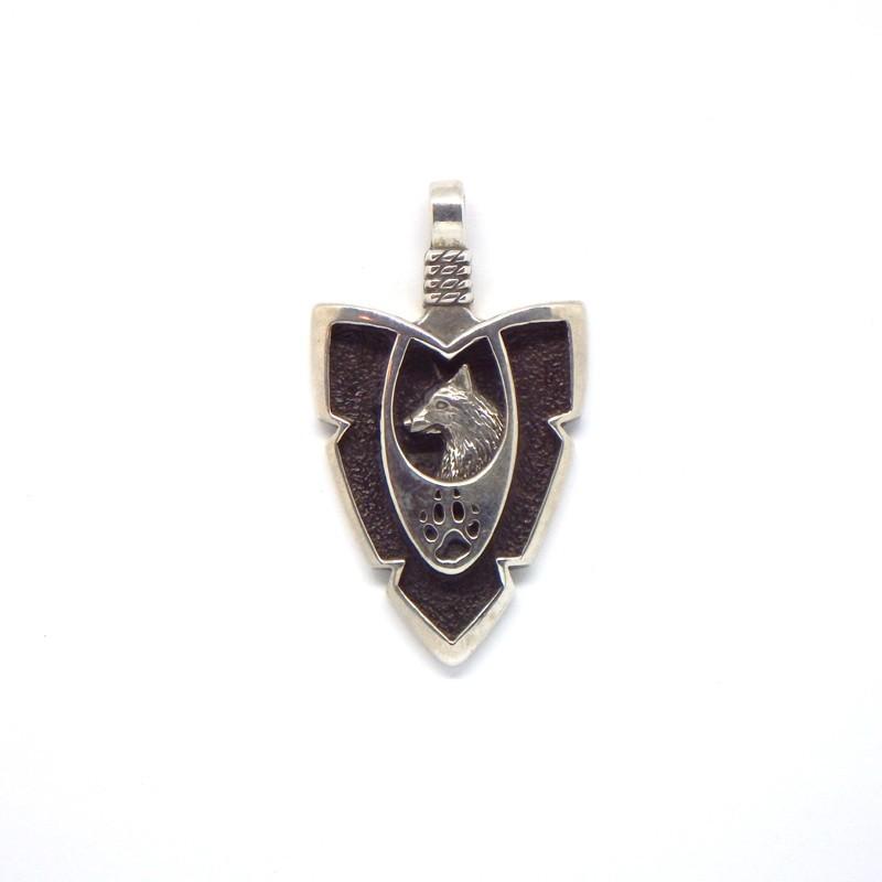 Arrowhead Wolf Pendant