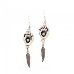 Bear Paw/Feather Earrings