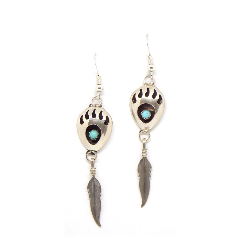 Bear Paw/Feather Earrings