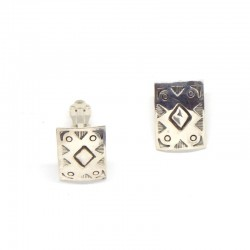 Clip-on Rectangular Earrings