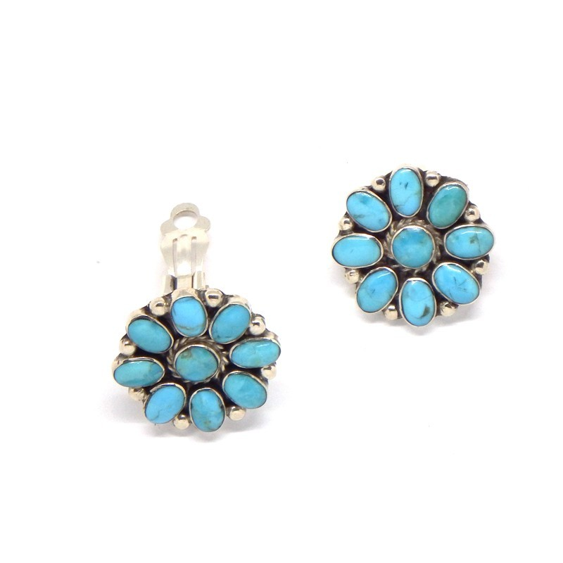 Clip-on Floral Earrings