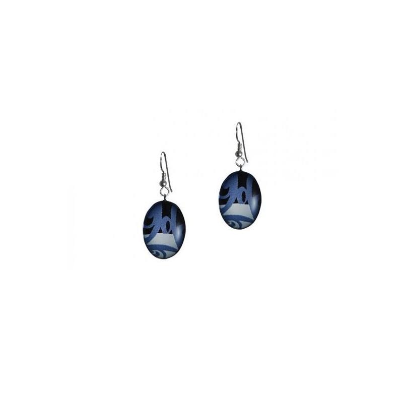 Corrine Hunt Silk Inspiration Oval Earrings