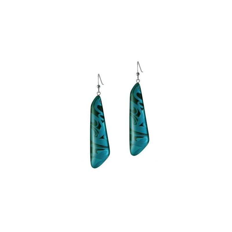 Corrine Hunt Silk Inspiration Trapezoid Earrings