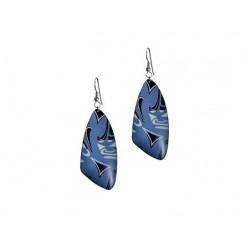 Corrine Hunt Silk Inspiration Triangle Earrings