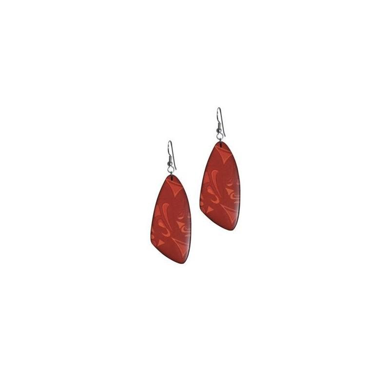 Corrine Hunt Silk Inspiration Triangle Earrings