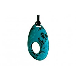 Corrine Hunt Silk Inspiration Oval Pendant