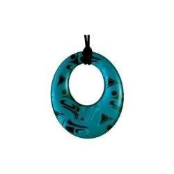Corrine Hunt Silk Inspiration Round Pendant