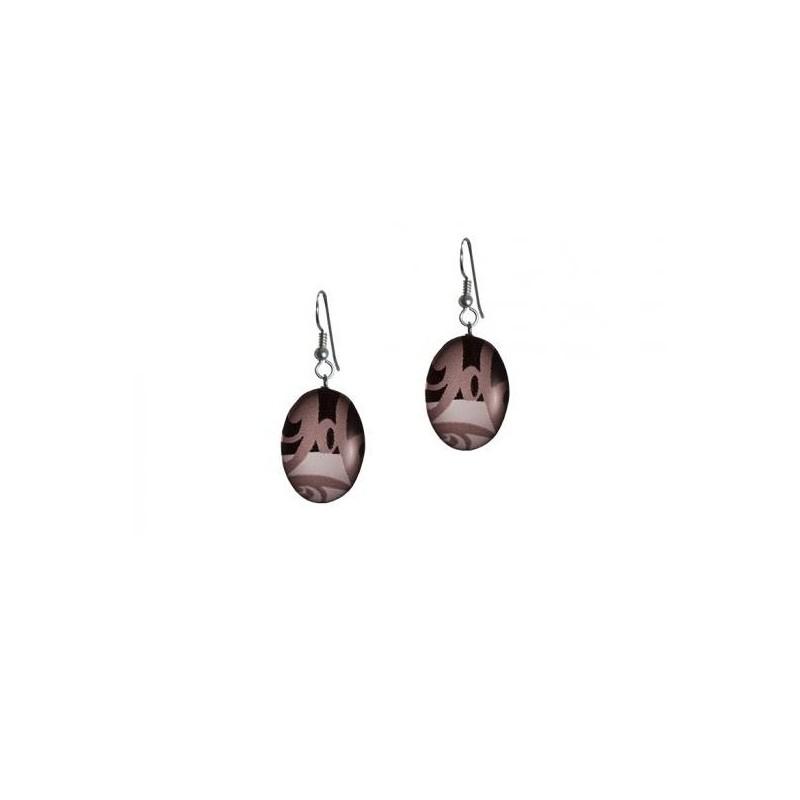 Kelly Robinson Silk Inspiration Oval Earrings