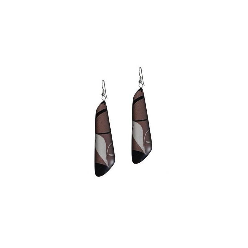 Kelly Robinson Silk Inspiration Trapezoid Earrings