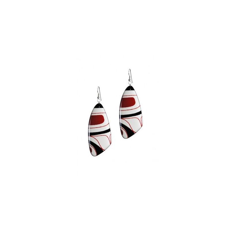 Kelly Robinson Silk Inspiration Triangle Earrings