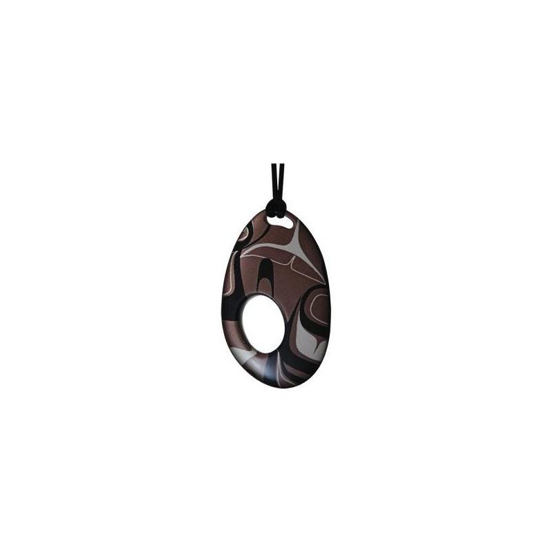 Kelly Robinson Silk Inspiration Oval Pendant