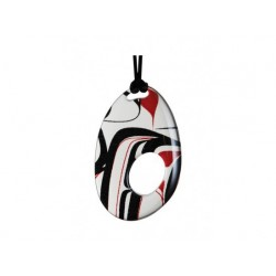 Kelly Robinson Silk Inspiration Oval Pendant