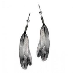 Bill Helin Eagle Feather Earrings